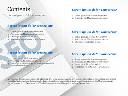 Keyboard with SEO Button PowerPoint Template Slide 2