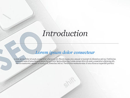 Keyboard with SEO Button PowerPoint Template Slide 3