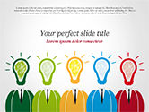 Business Concepts: Men with Light Bulbs Instead of Heads PowerPoint Template #14793