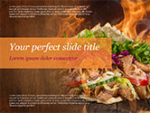 Food & Beverage: Kebab Sandwich PowerPoint Template #14794