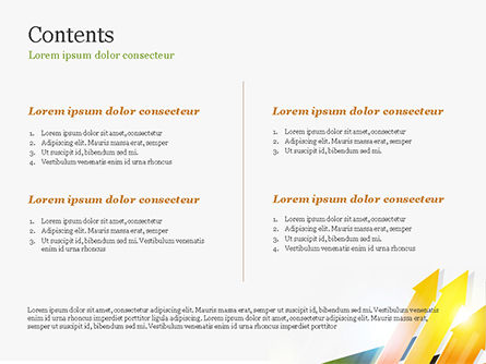 Upward Colored Arrows with Reflections PowerPoint Template Slide 2