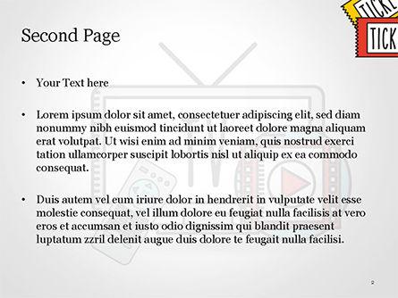 Hand Drawn Entertainment Symbols PowerPoint Template, Slide 2, 14798, Art & Entertainment — PoweredTemplate.com