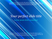 Abstract/Textures: Blauwe Diagonale Abstracte Beweging Achtergrond PowerPoint Template #14799