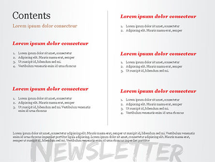 A Hand Writing Newsletter with Marker PowerPoint Template Slide 2
