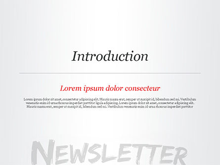 A Hand Writing Newsletter with Marker PowerPoint Template, Slide 3, 14800, Careers/Industry — PoweredTemplate.com