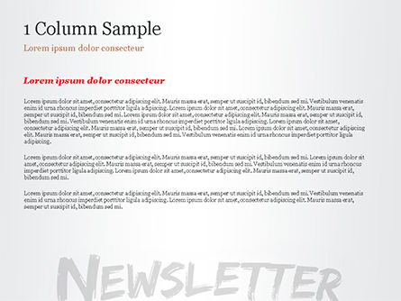 A Hand Writing Newsletter with Marker PowerPoint Template Slide 4