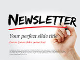 Careers/Industry: A Hand Writing Newsletter with Marker PowerPoint Template #14800