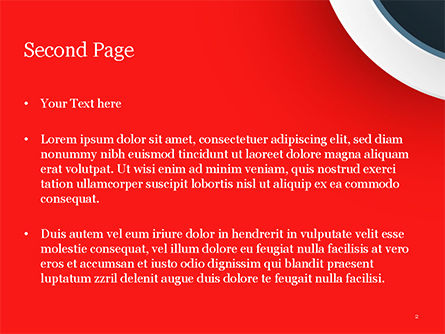 Circle on Red Abstract Background PowerPoint Template, Slide 2, 14801, Abstract/Textures — PoweredTemplate.com