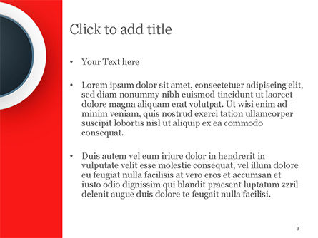 Circle on Red Abstract Background PowerPoint Template, Slide 3, 14801, Abstract/Textures — PoweredTemplate.com