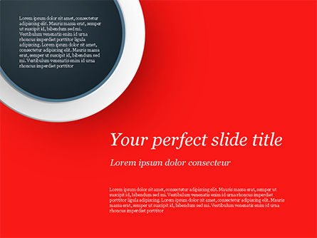 Abstract/Textures: Circle on Red Abstract Background PowerPoint Template #14801