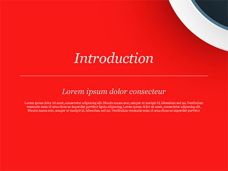 Circle on Red Abstract Background PowerPoint Template Slide 3