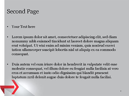 Right Red Arrow Theme PowerPoint Template, Slide 2, 14803, Business Concepts — PoweredTemplate.com