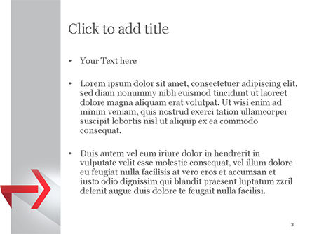 Right Red Arrow Theme PowerPoint Template, Slide 3, 14803, Business Concepts — PoweredTemplate.com
