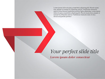 Business Concepts: Right Red Arrow Theme PowerPoint Template #14803