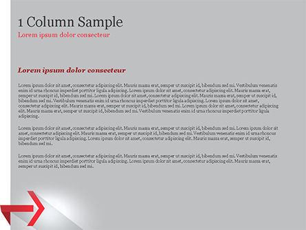 Right Red Arrow Theme PowerPoint Template, Slide 4, 14803, Business Concepts — PoweredTemplate.com