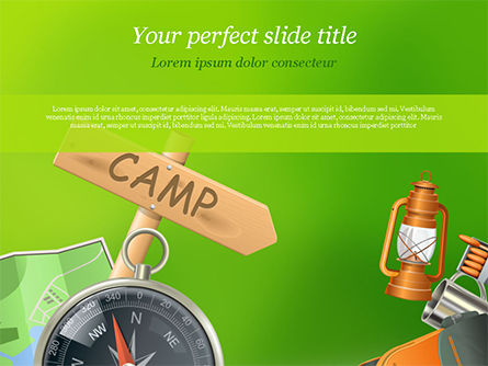 Careers/Industry: Camping Accessories PowerPoint Template #14804