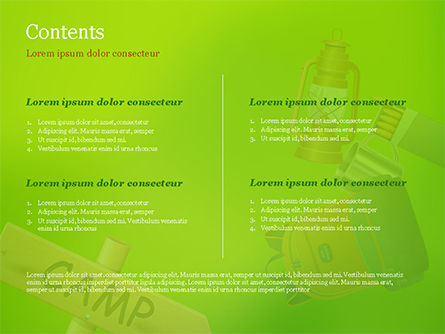 Camping Accessories PowerPoint Template, Slide 2, 14804, Careers/Industry — PoweredTemplate.com