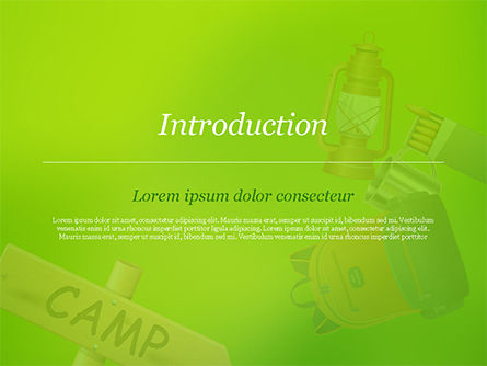 Camping Accessories PowerPoint Template, Slide 3, 14804, Careers/Industry — PoweredTemplate.com