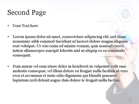 Businessman Drawing on Virtual Screen PowerPoint Template, Slide 2, 14807, Technology and Science — PoweredTemplate.com