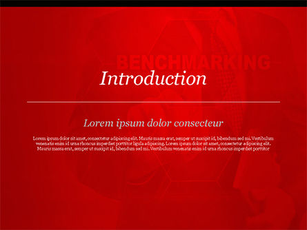 Man Starting Benchmarking Process PowerPoint Template, Slide 3, 14809, Business Concepts — PoweredTemplate.com