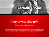 Business Concepts: Templat PowerPoint Man Memulai Proses Benchmarking #14809
