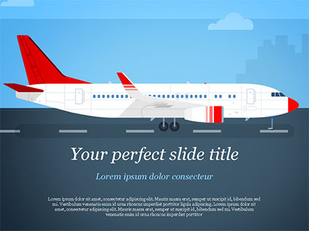 Airline PowerPoint Template, 14810, Cars and Transportation — PoweredTemplate.com