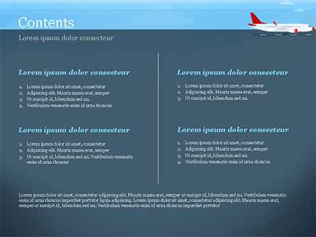 Airline PowerPoint Template, Slide 2, 14810, Cars and Transportation — PoweredTemplate.com