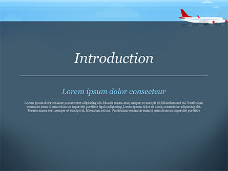 Airline PowerPoint Template, Slide 3, 14810, Cars and Transportation — PoweredTemplate.com