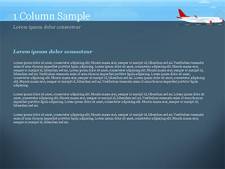 Airline PowerPoint Template, Slide 4, 14810, Cars and Transportation — PoweredTemplate.com