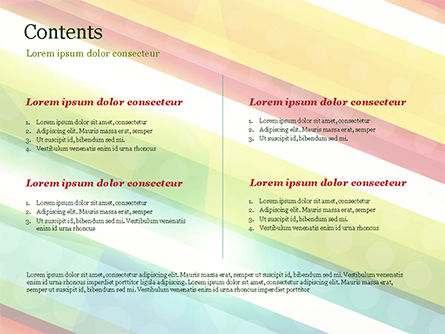 Colorful Diagonal Stripes PowerPoint Template, Slide 2, 14811, Abstract/Textures — PoweredTemplate.com