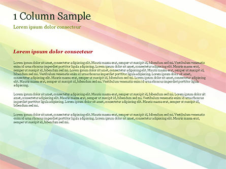 Colorful Diagonal Stripes PowerPoint Template, Slide 4, 14811, Abstract/Textures — PoweredTemplate.com