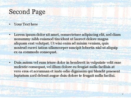 Abstract Hand Draw Crayon Paper Texture PowerPoint Template, Slide 2, 14815, Art & Entertainment — PoweredTemplate.com