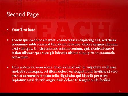 Teach Word Cloud PowerPoint Template, Slide 2, 14816, Education & Training — PoweredTemplate.com