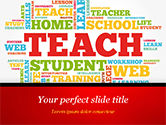 Education & Training: Leer Woordwolk PowerPoint Template #14816