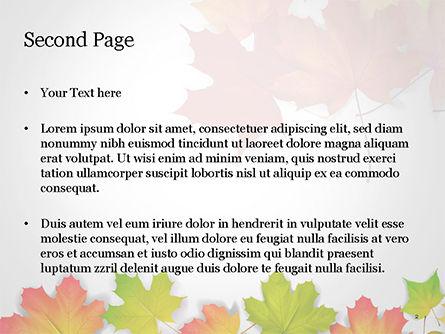 Autumn Maple Leaves PowerPoint Template, Slide 2, 14819, Nature & Environment — PoweredTemplate.com