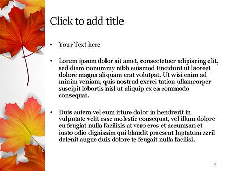 Autumn Maple Leaves PowerPoint Template, Slide 3, 14819, Nature & Environment — PoweredTemplate.com