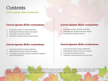 Autumn Maple Leaves PowerPoint Template, Slide 2, 14819, Nature & Environment — PoweredTemplate.com
