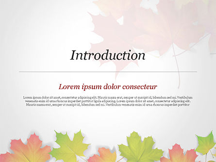 Autumn Maple Leaves PowerPoint Template, Slide 3, 14819, Nature & Environment — PoweredTemplate.com
