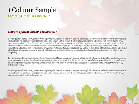 Autumn Maple Leaves PowerPoint Template, Slide 4, 14819, Nature & Environment — PoweredTemplate.com