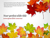 Nature & Environment: Autumn Maple Leaves PowerPoint Template #14819