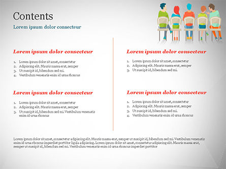 Spectators on Chairs PowerPoint Template Slide 2