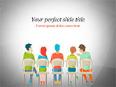 People: Spectators on Chairs PowerPoint Template #14823