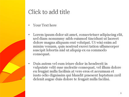 Red and Yellow Curves PowerPoint Template, Slide 3, 14824, Abstract/Textures — PoweredTemplate.com