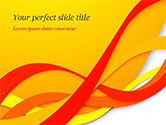 Abstract/Textures: Red and Yellow Curves PowerPoint Template #14824