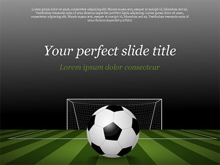 Sports: Soccer Ball On Eleven-meter Mark PowerPoint Template #14825