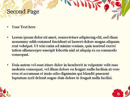 Autumn Bloom PowerPoint Template, Slide 2, 14826, Art & Entertainment — PoweredTemplate.com