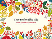 Art & Entertainment: Autumn Bloom PowerPoint Template #14826