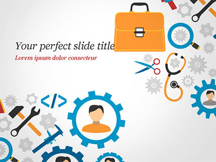 Tools and Gears PowerPoint Template, 14827, 3D — PoweredTemplate.com