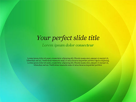 Green and Yellow Abstraction PowerPoint Template, 14828, Abstract/Textures — PoweredTemplate.com
