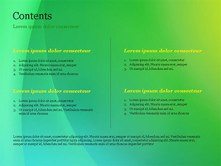 Green and Yellow Abstraction PowerPoint Template, Slide 2, 14828, Abstract/Textures — PoweredTemplate.com